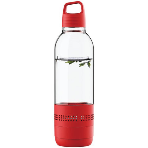 SYLVANIA SP650-RED 400mL Water Bottle with Integrated Bluetooth® Speaker -Red