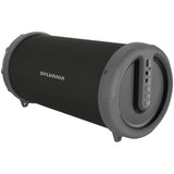 SYLVANIA SP803 Rugged Rubber Bluetooth FM Radio Tube Speaker with Shoulder Strap - Audiovideodirect