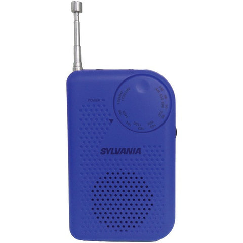 Sylvania SRC100 Portable AM/FM Radio with Belt Clip and Headphone Output