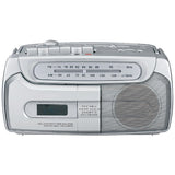 SYLVANIA SRC120 Portable .8W AM/FM Radio Cassette Boom Box with AC adapter -New - Audiovideodirect