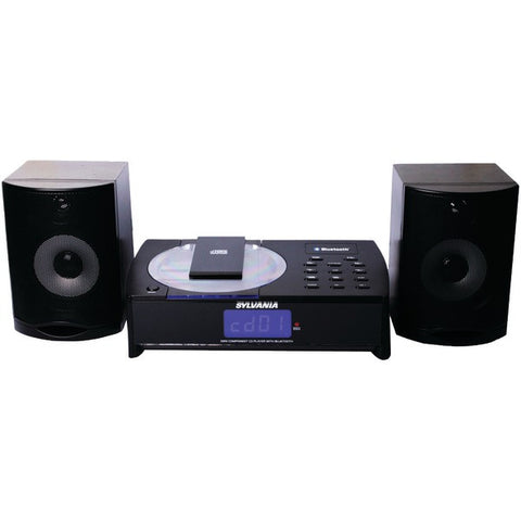 SYLVANIA SRCD1079BT Bluetooth CD Micro System w/ Remote and Lithium Battery -New