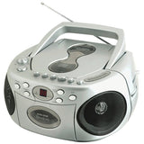 SYLVANIA SRCD286-SILVER Portable CD Radio Cassette Boom Box with AC/DC power