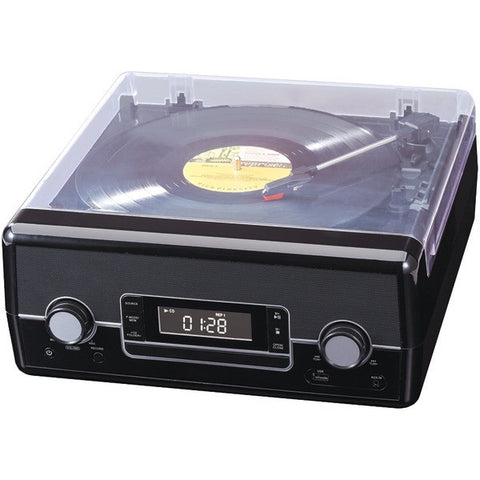 Sylvania SRCD875-BLACK New CD Radio Turntable with Direct Encoding - Audiovideodirect