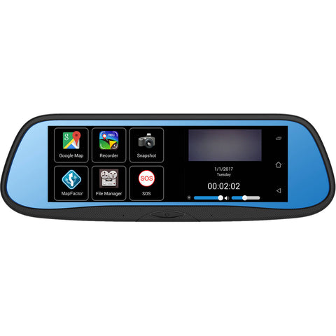 "Boyo 7"" Rear View DVR Mirror Monitor with Camera and Android System VTG700X - Audiovideodirect"