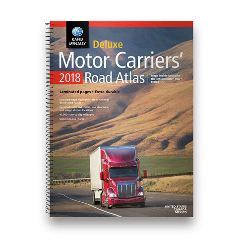 Rand McNally 2018 Deluxe Motor Carriers' Road Atlas 0528017578 - Audiovideodirect