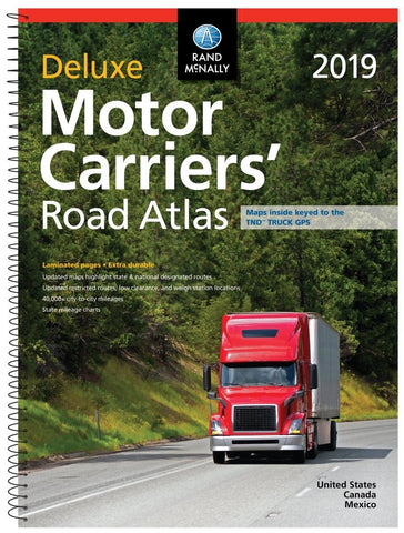 Rand McNally 2019 Deluxe Motor Carriers' Laminated Road Atlas - Audiovideodirect