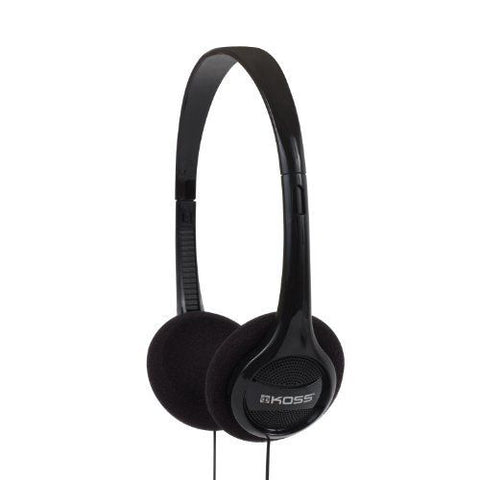 Koss KPH7 Black Lightweight Portable Headphone 190238 - Audiovideodirect