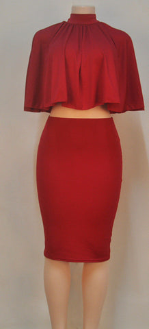 Backless Cape 2 Piece Set