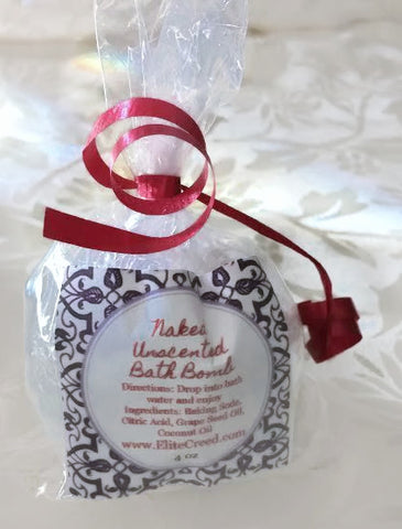 Naked Unscented Bath Bomb elitecreed.com Baking Soda, Citric Acid, Grape Seed Oil, Coconut Oil