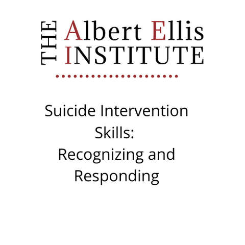 Suicide Intervention Skills: Recognizing and Responding (11/13/20) - LIVE REMOTELY