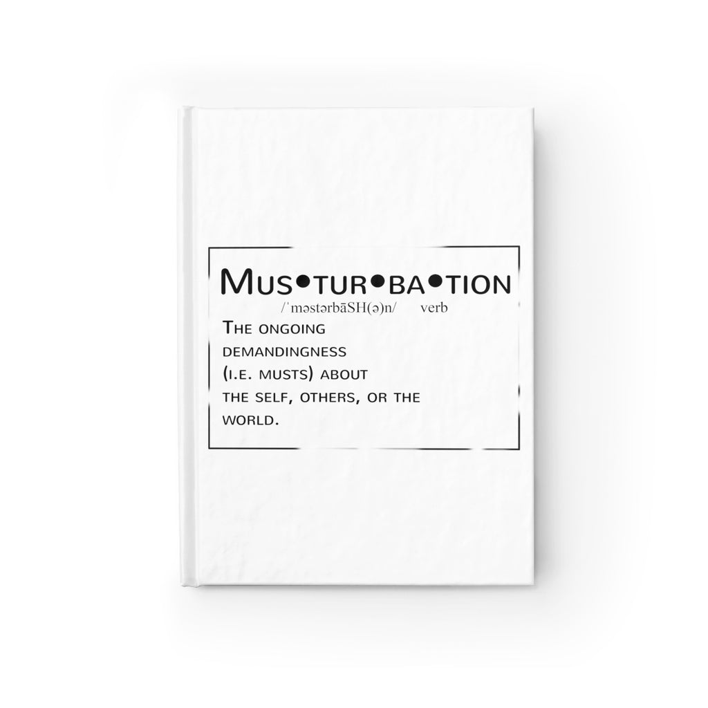 Musturbation journal- Ruled line