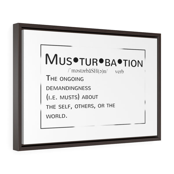 Musturbation Horizontal Framed Premium Gallery Wrap Canvas