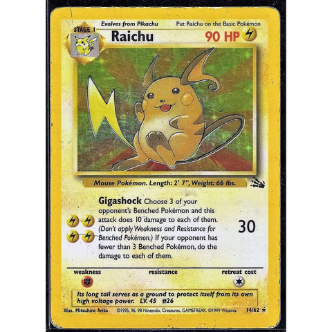 Raichu Holographic - The Frugal Dutchman