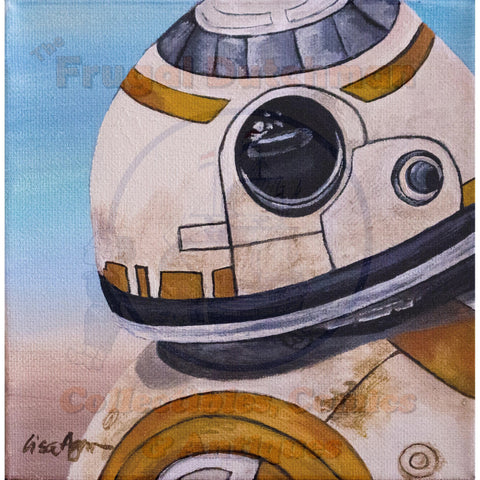 BB-8: Lisa Agnew Digital Print - The Frugal Dutchman
