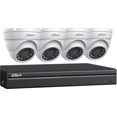 DAHUA 4CH DVR, 2TB, 4X2MP EYEBAL KIT