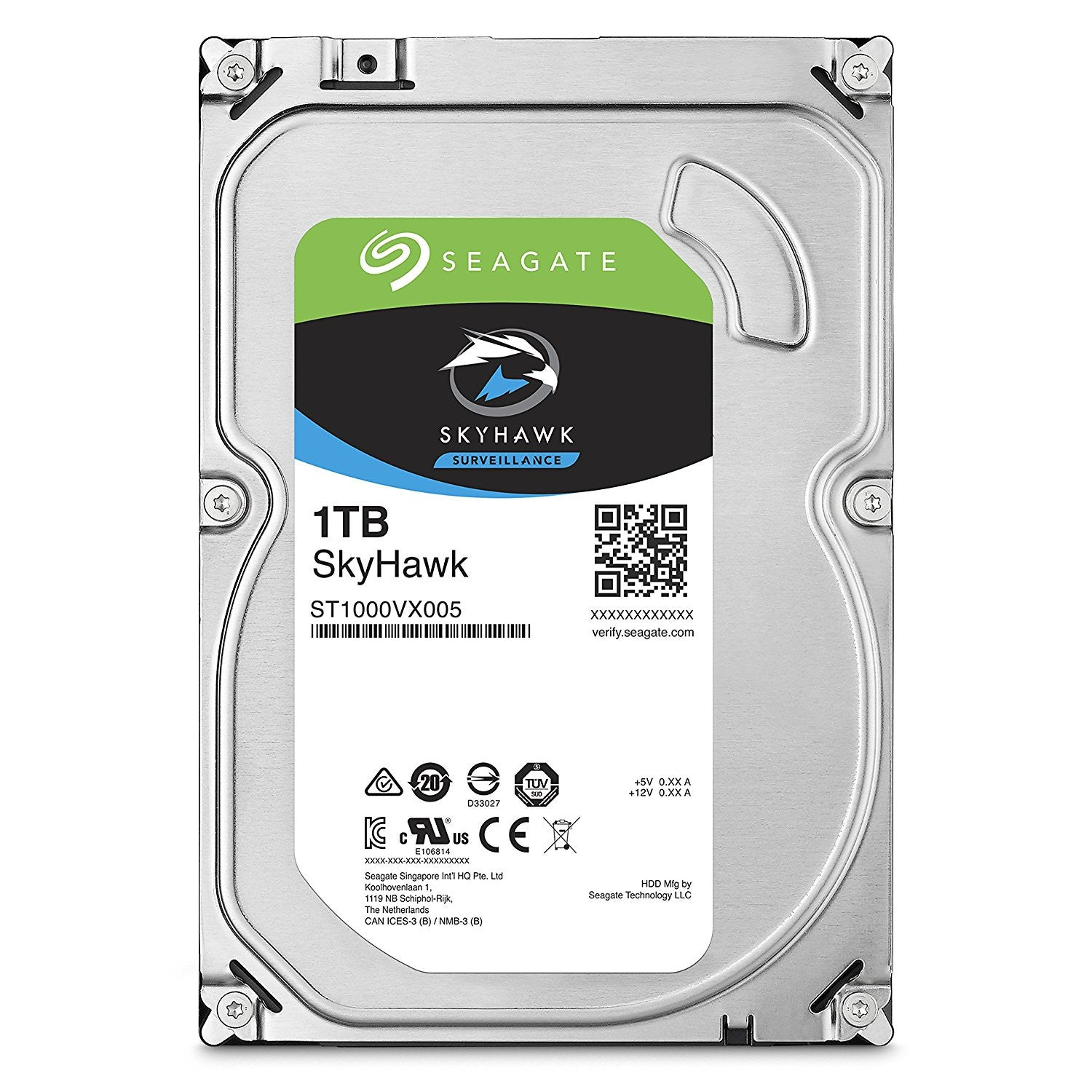 Seagate SkyHawk 1TB Surveillance Hard Drive - SATA 6Gb/s 64MB Cache 3.5-Inch Internal Drive (ST1000VX005) - Security-Smart-Shop