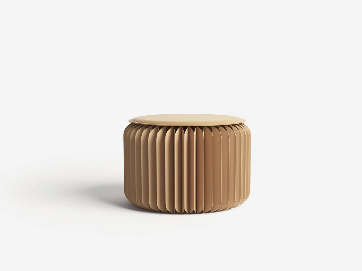 Foldable Brown Mini Stool