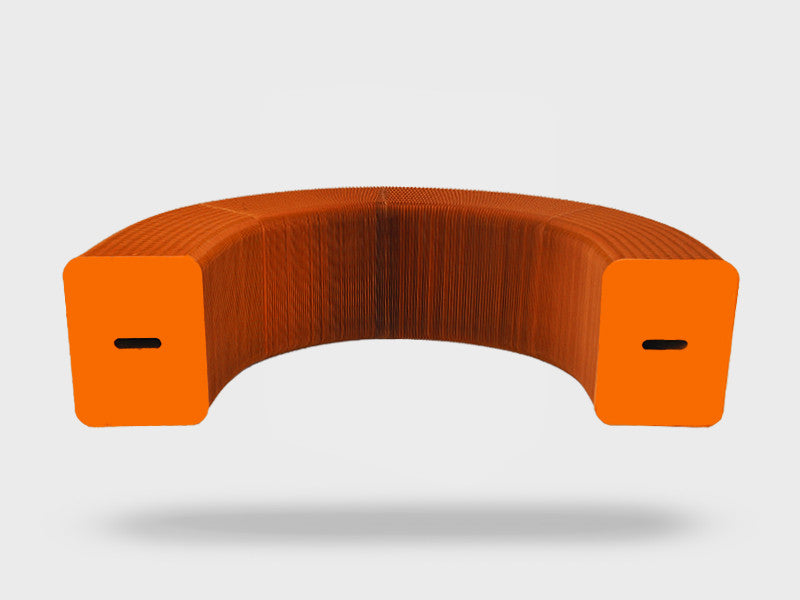 Foldable 6 Seater Orange Bench