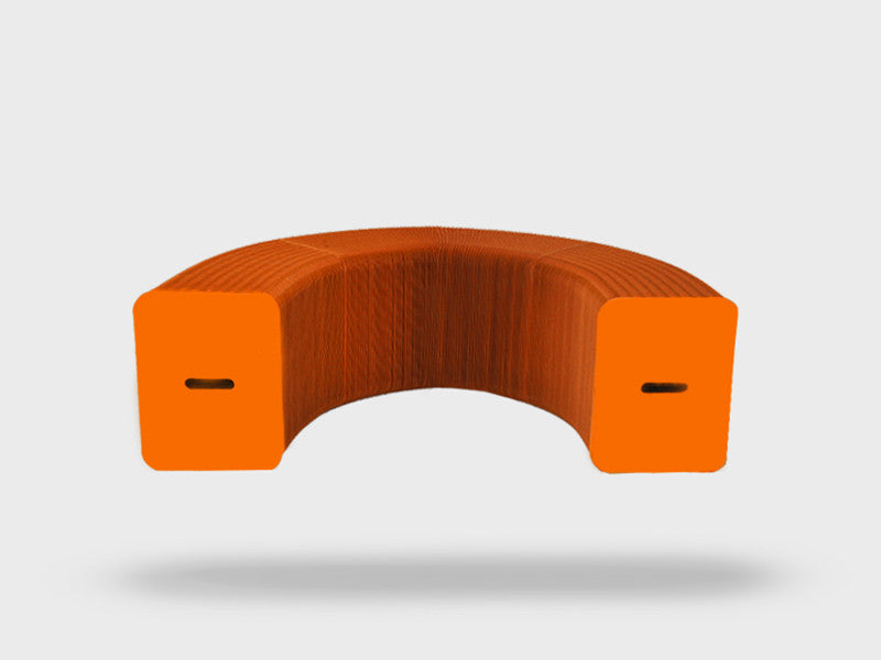Foldable 3 Seater Orange Bench
