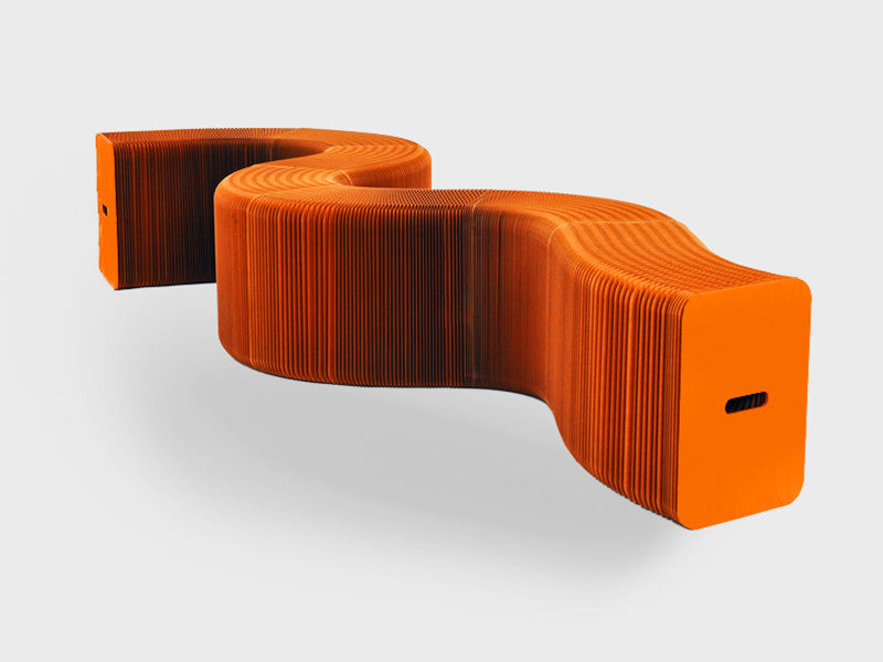 Foldable 12 Seater Orange Bench