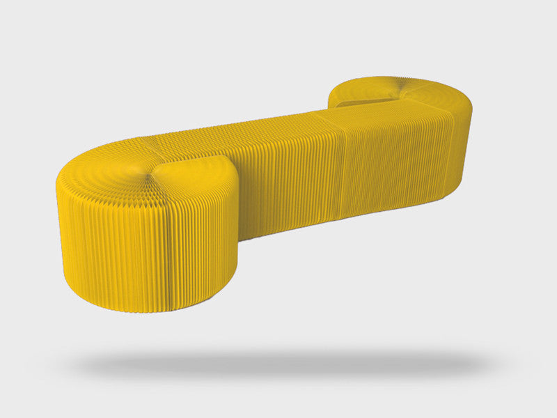 Foldable 12 Seater Yellow Bench