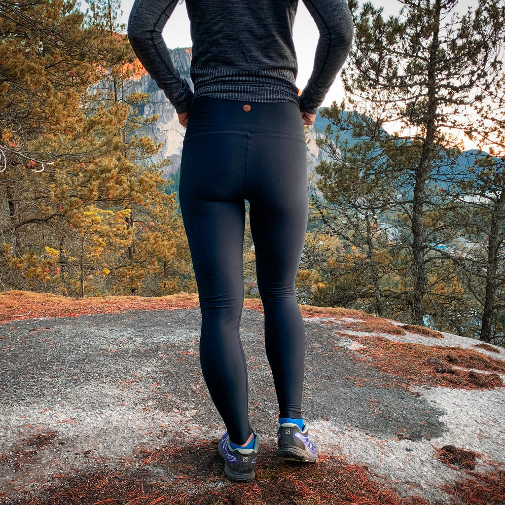 """Pitch Black"" Baselayer Leggings - New stock arriving May 15th!"