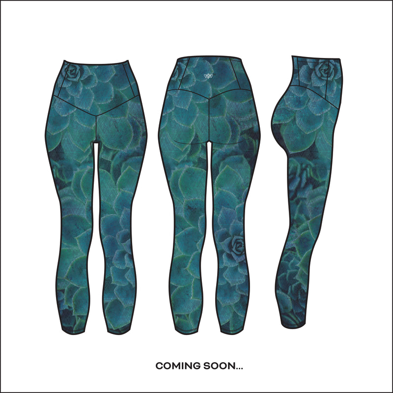 """Desert Flora in Ocean"" Run-Light Capri - pre-order by June 15th"