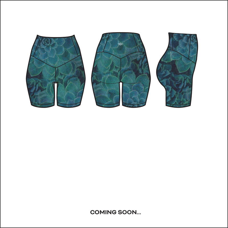 """Desert Flora in Ocean"" Run-Light Shorts - pre-order by June 15th"