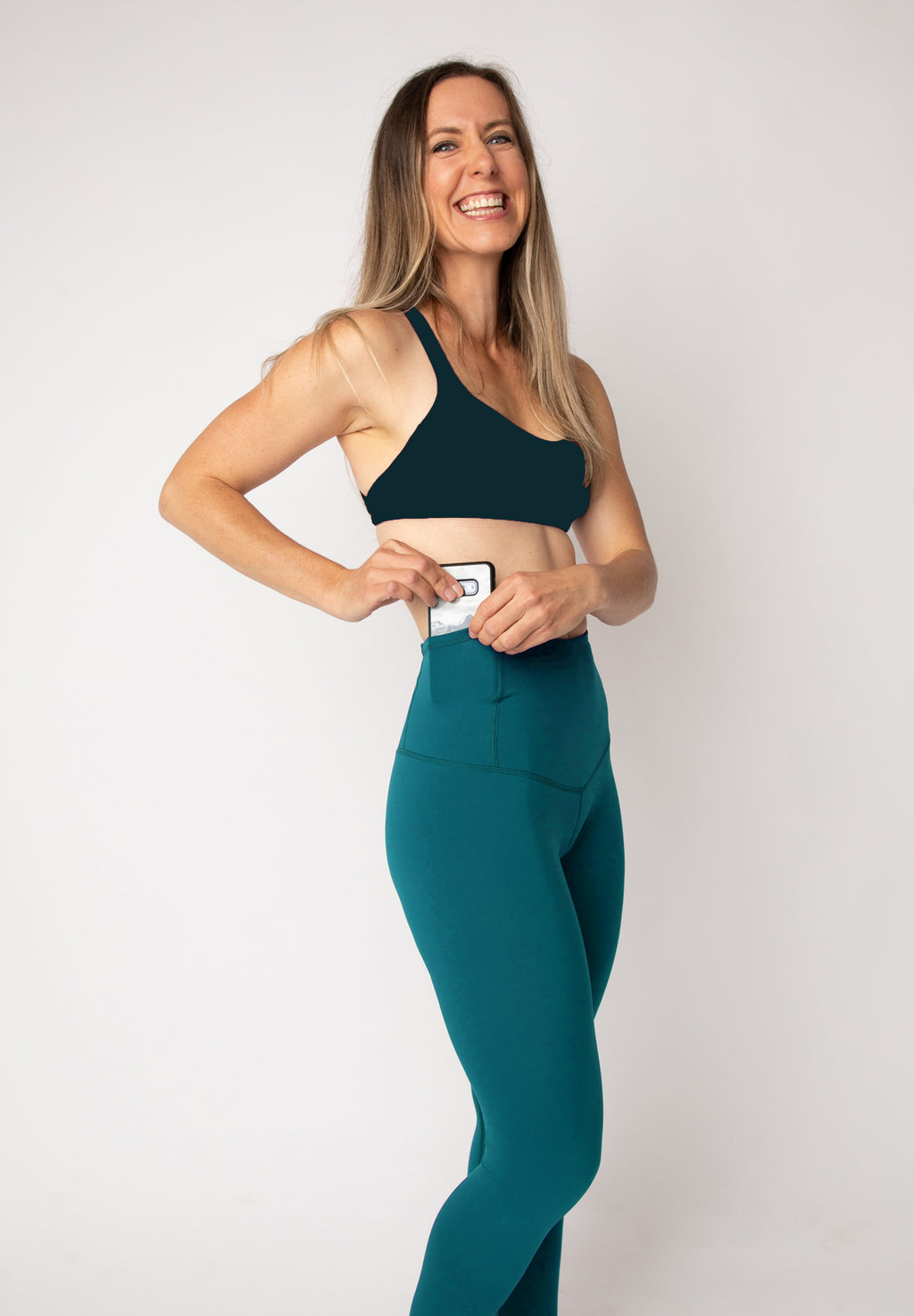 "Basecamp leggings in ""Ocean"""