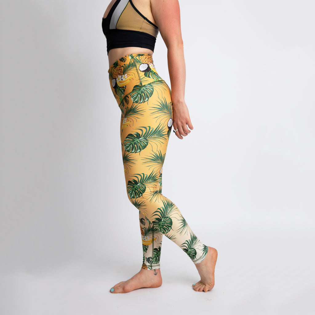 The Piña Colada Athletic Tights - LAST CHANCE!