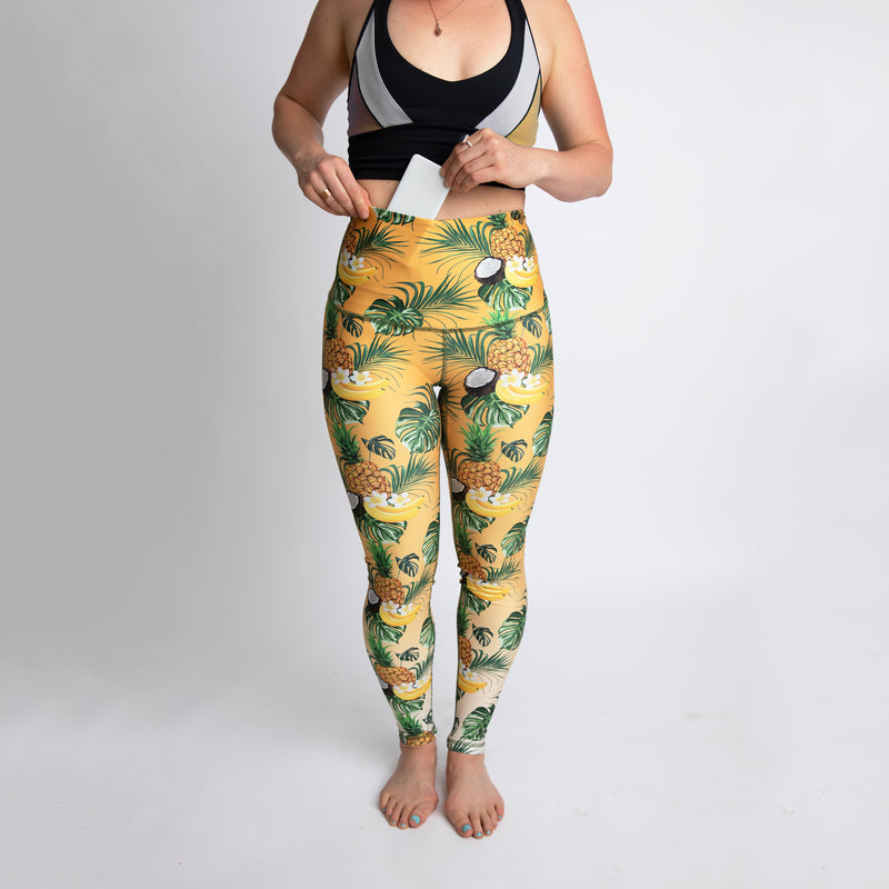 The Piña Colada Athletic Tights - WHOLESALE - order by July 31st