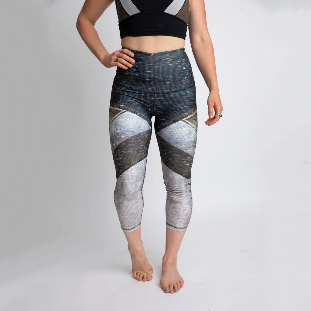"""Wolf Eye"" Athletic Capri *reflective* RECYCLED - XL only!"