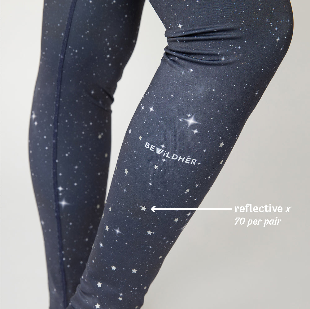 "The ""Starry Night"" Squat-proof Tights - *reflective*"