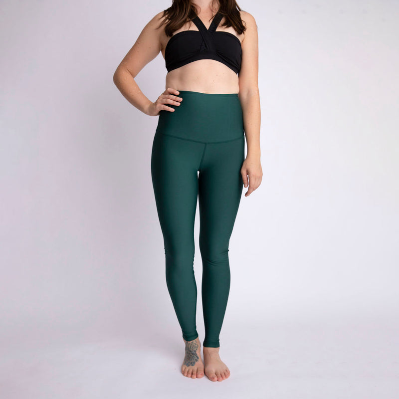 """Forest Green"" Baselayer Leggings - M only!"