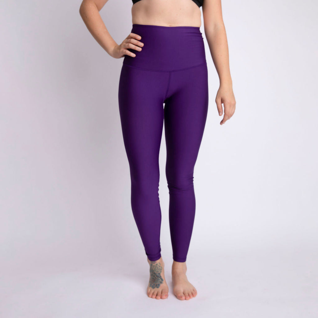 """Plum Purple"" Baselayer Leggings - size Medium only!"