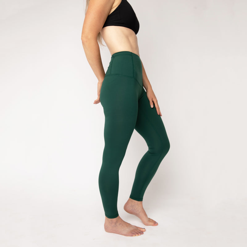"Basecamp leggings in ""Forest Green"" - ships mid May"