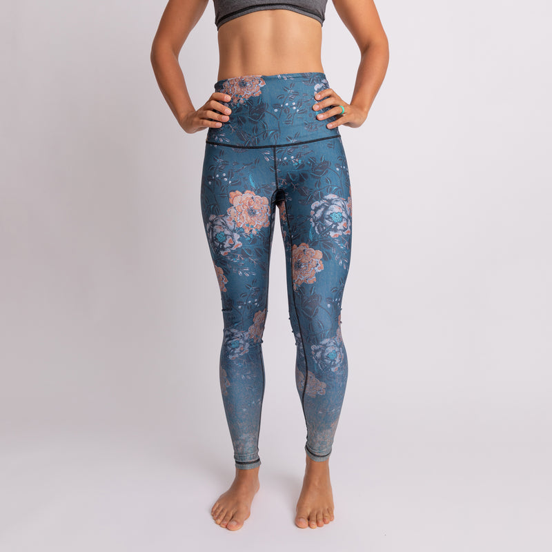 """Fall Flora"" Athletic Tights, RECYCLED - XS only!"