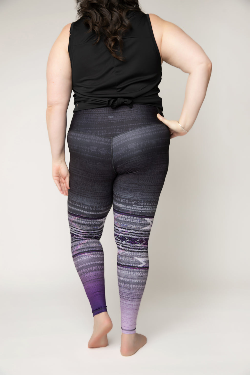 "Squat-proof tights in ""Woven Together"" print - ships mid June"