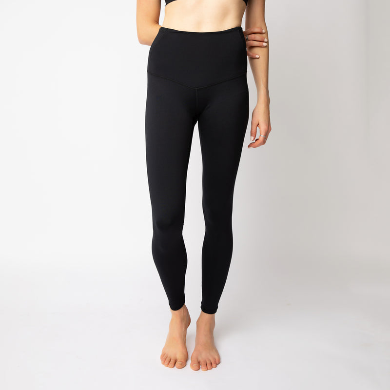 """Pitch Black"" Flatter-n-Flow Tights - ships mid March"