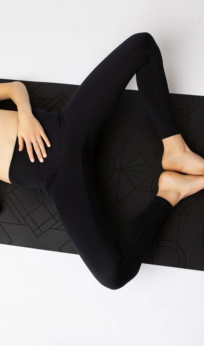 "The ""Pitch Black"" Flatter-n-Flow Tights - pre-order by Jan 31st"