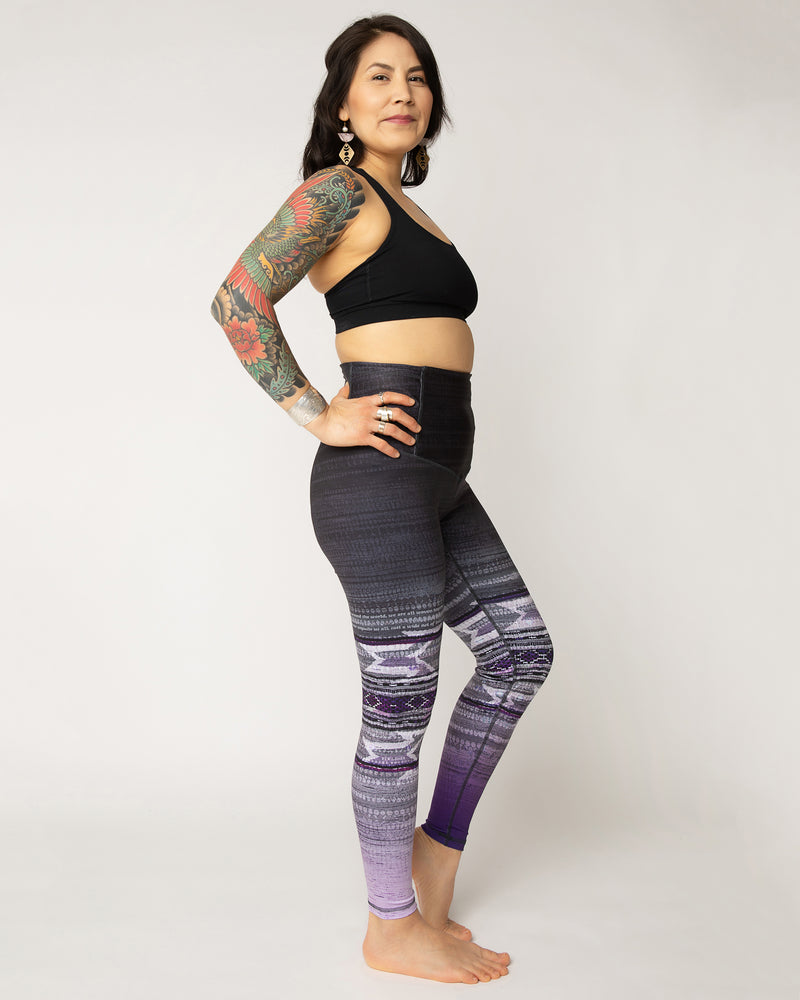 "Squat-proof tights in ""Woven Together"" print - pre-order by April 30th"