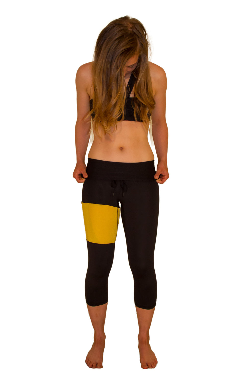 Golden Glam Fitness Capri - XS only