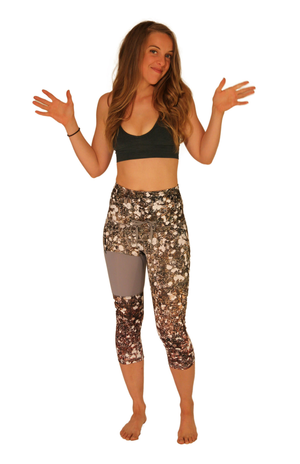 Don't Sweat, Sparkle Fitness Capri - XS only