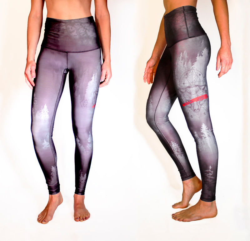 JANUARY - The Grizzly Warrior Leggings - ONLY 1 LEFT, SIZE XXS