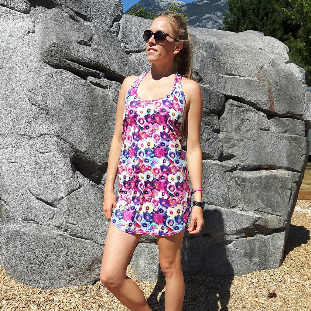 MAYFLOWERS TANK DRESS