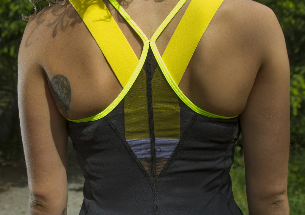 """Neon Black"" Fitness Tank, RECYCLED"