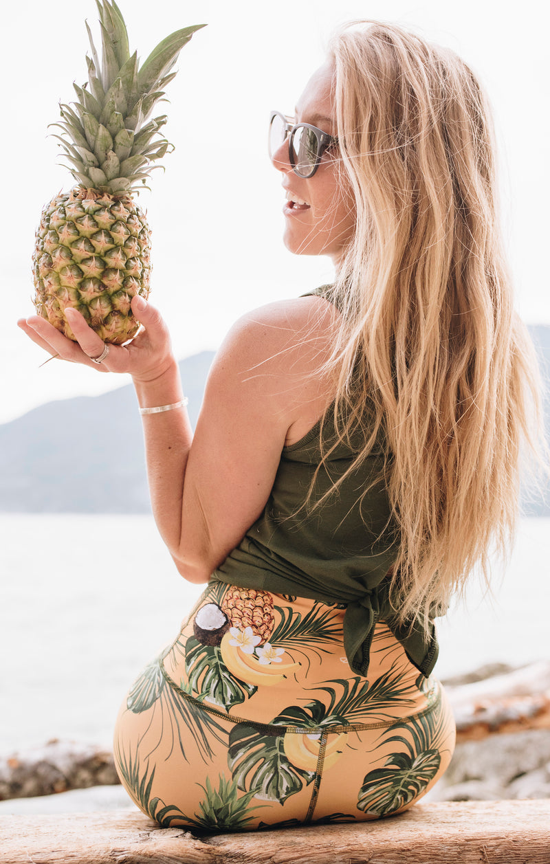 The Piña Colada Athletic Capri - LAST SIZES: XS & XL
