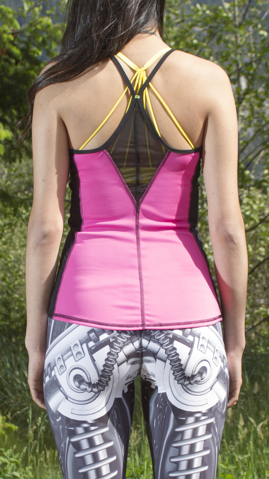 """Electric Pink"" Fitness Tank, RECYCLED"
