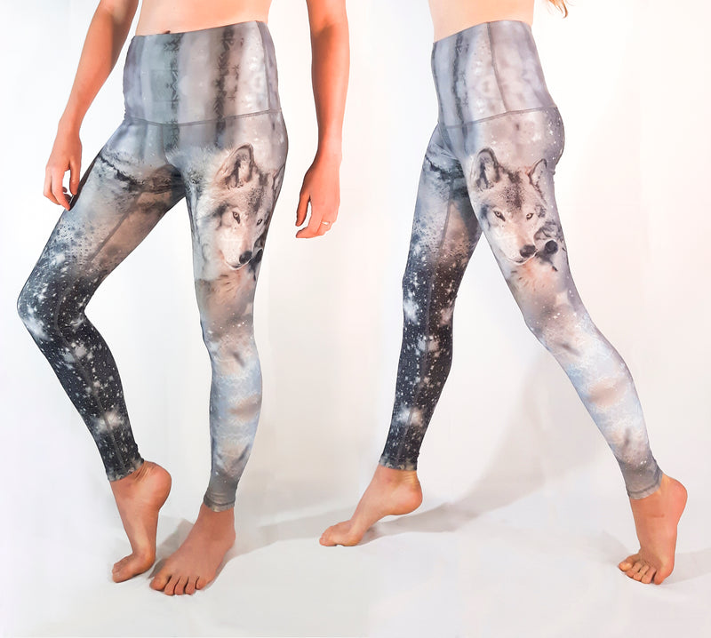 KICKSTARTER - The Kindred Spirit Wolf Leggings - very last chance, only 2 left, XXS and Medium