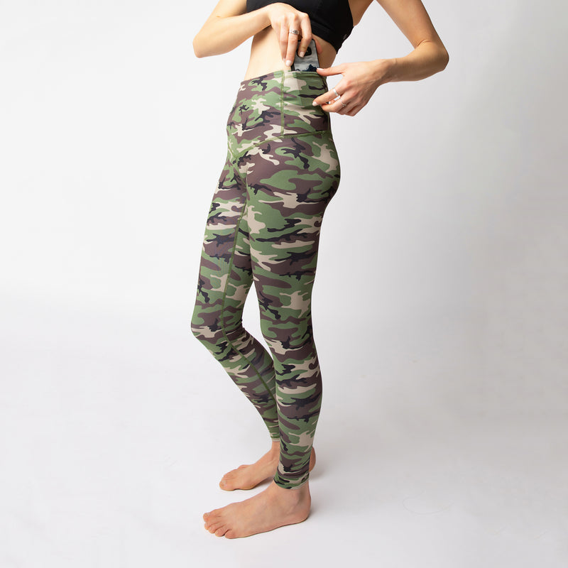"The ""Woodland Camo"" Basecamp Leggings - ships mid March"